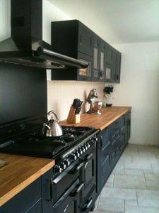 MON piano de cuisson en 1 m 10. 5 brûleurs, 1 table vitrocéramique/plancha, 1 gril, 1 four Multifonctions et 1 four