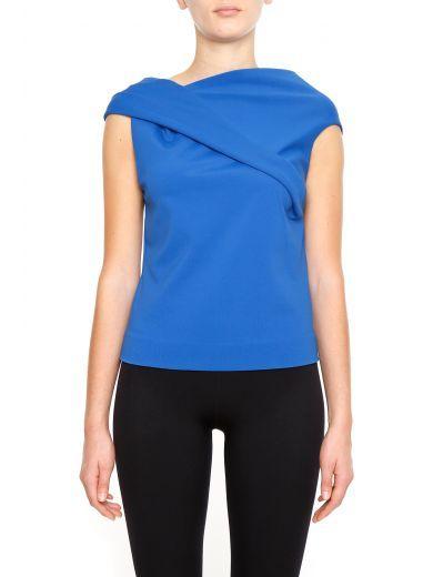 BALENCIAGA Crepe Jersey Top. #balenciaga #cloth #topwear