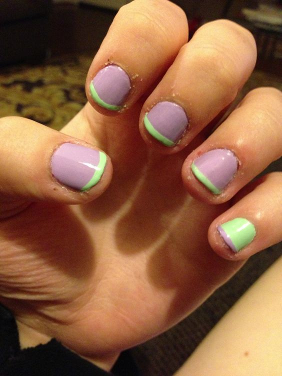 My first attempt at scotch tape nails
