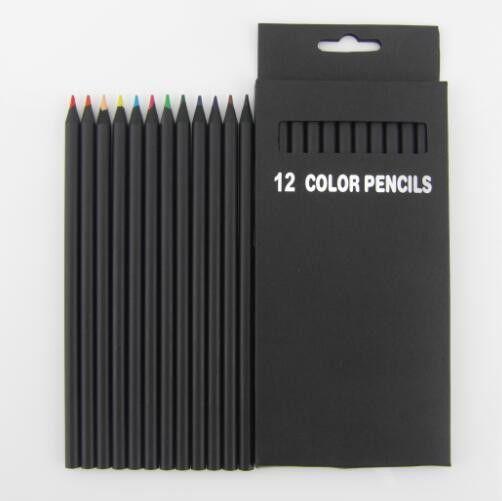 12 Metallic Colors Lapiz Wood Drawing Professional Prismacolor Colored Pencils Sketch Color Pencil Lapices De Colores School