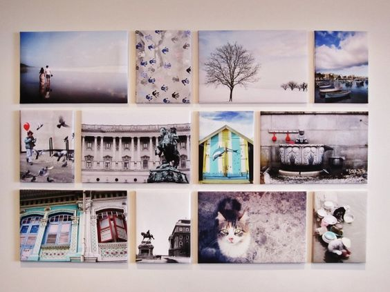My Travel Photo wall - My own travel memories turned into canvases
