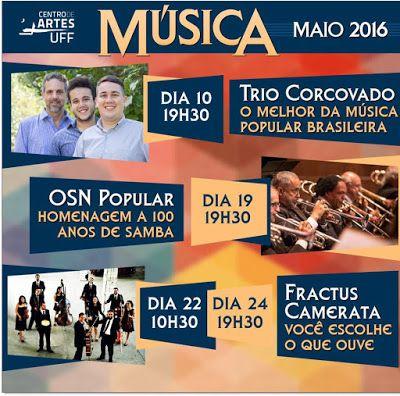 Agenda Cultural RJ: Show do Trio Corcovado, dia 10/05 no Centro de Art...