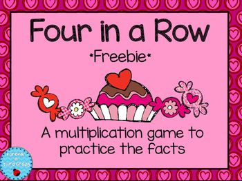 Valentine's Day Multiplication FreebieTwo to five players can play this Valentine game. Each player gets a game board. Then in turn the player rolls two 10 or 12 sided dice and multiply. The first player to get four in a row wins.Please see my other multiplication and Valentine Products:Multiplication Warm-UpsMultiplication GamesMultiplication Practice PackValentines Day Fraction Task CardsValentines Day Math Review and GamesMultiplication Fact Practice for February