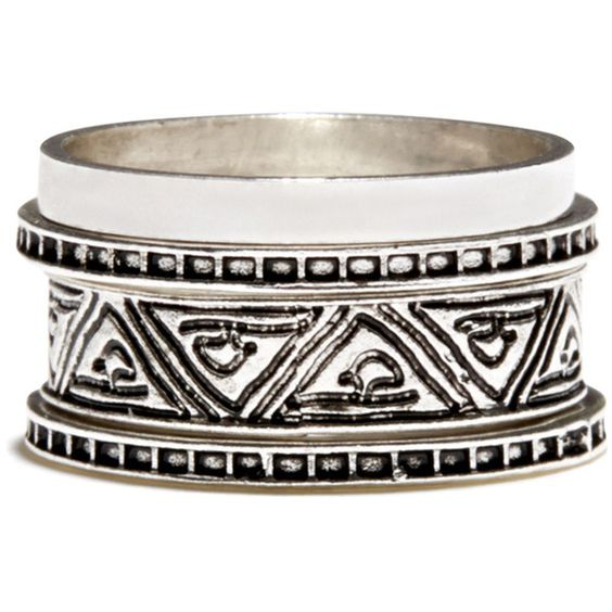 Warehouse Aztec Ring Stacking Set (10 CAD) ❤ liked on Polyvore featuring jewelry, rings, bracelets, accessories, metallics, stacking rings jewelry, set rings, aztec ring, metal jewelry and polish jewelry