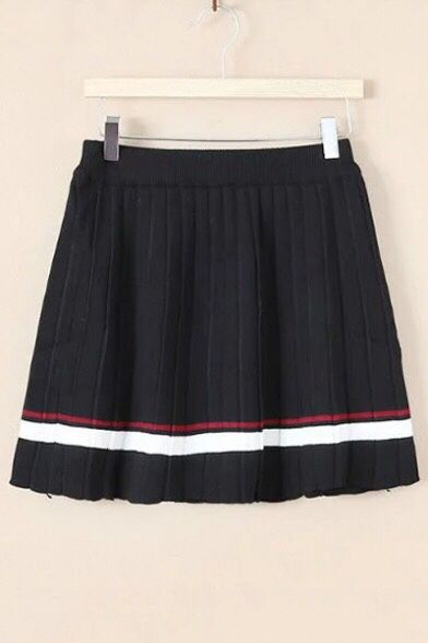 art-is-art-is-art:  striped pleated skirt - http://wp.me/p6qjkV-k2Q  #Art