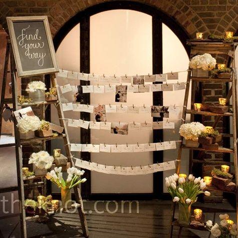 escort card display: Card Display, Wedding Idea, Placecard, Wooden Ladder, Place Card, Escort Card, Display Idea