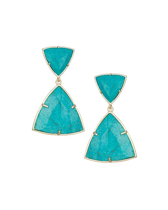 Maury Turquoise Magnesite Earrings, Women's