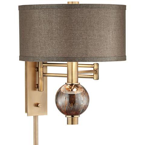 Richford Brass Plug In Swing Arm Wall Lamp With Dimmer 1r145 Lamps Plus Swing Arm Wall Lamps Plug In Wall Lamp Wall Lamp