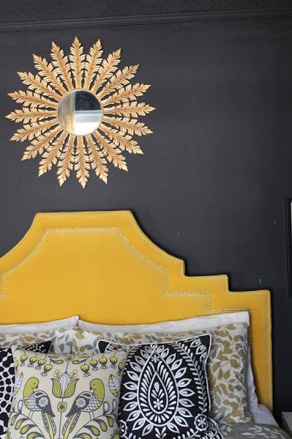 Bedroom Brightness: Hollywood Regency Headboard Reveal » Swoon Worthy