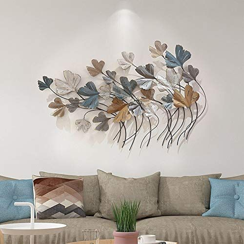 Monkibag Art Design Metal Wall Decorations Metal Wall Art Sculpture Colorful Leaves Designed Wall A In 2020 Wall Sculpture Art Iron Wall Decor Inspirational Wall Decor
