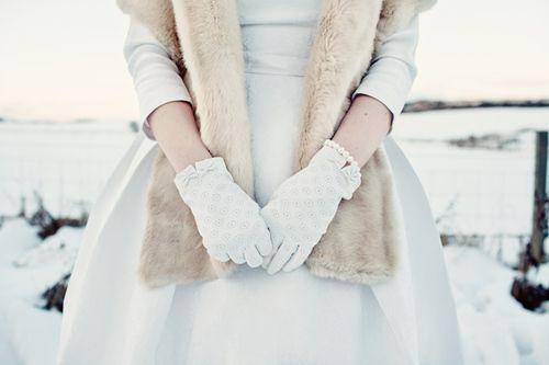 Handschuhe und 3/4 Arm
