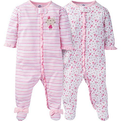 2-Pk Newborn Baby Footed Sleep Play Pajamas Sleeper Girl Boy Bodysuit Outfit New
