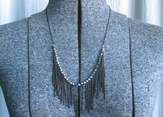 Thanks, I Made It: Chain Fringe Necklace tutorial