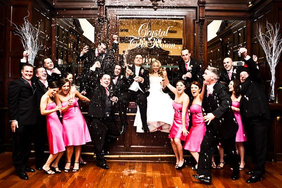 Fun wedding party picture!