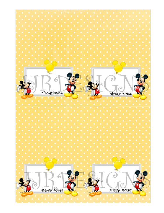 MICKEY MOUSE MENU TENTS
