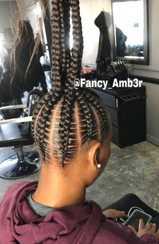 2019 Attractive 8 Feed In Braids Ponytail For Women Hairstylesforthinhair Wedding In 2020 Feed In Braids Ponytail Feed In Braids Hairstyles African Braids Hairstyles