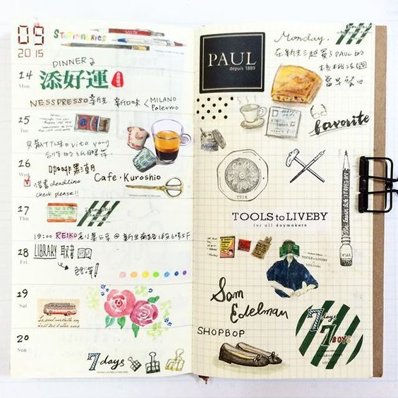#mytn #travelersnotebook #ToolstoLiveby #planner #maskingtape #stationery