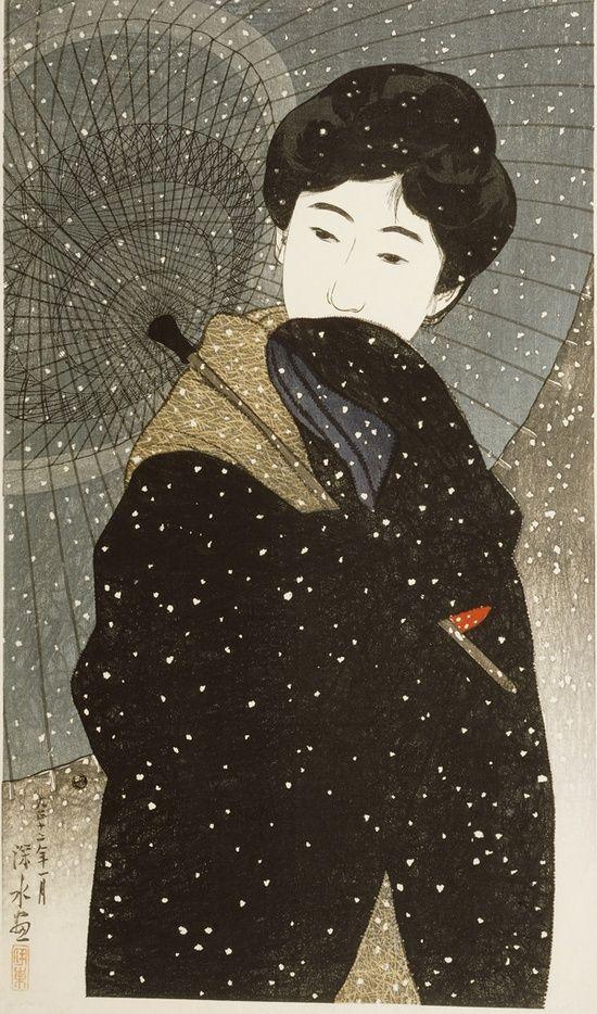 Night Snow by Ito Shinsui, 1923