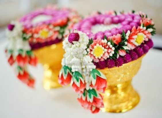 Thai flower garland for Thai wedding ceremony Stock Photo - 17533414