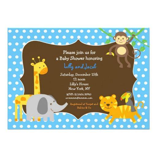 Invitaciónes Para Baby Shower De Safari Para Editar Imagui