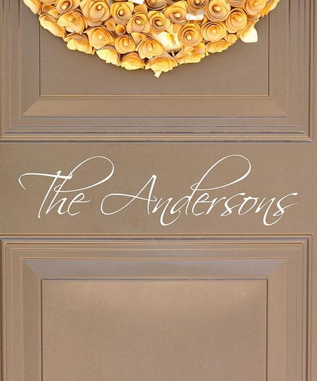 Personalized Last Name Decal on front door