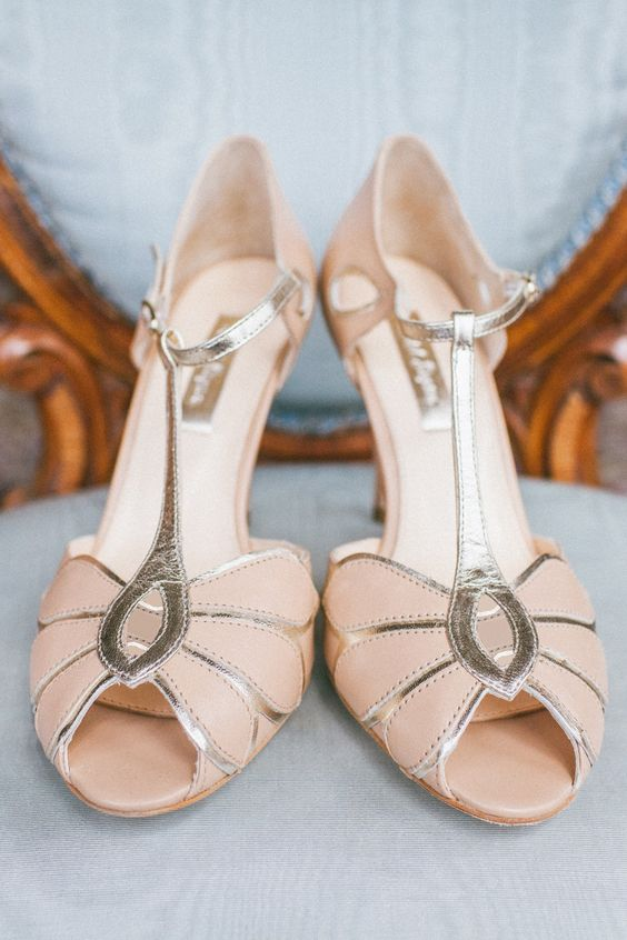 Mimosa by Rachel Simpson from Collection 2013 | apricot wedding shoes | fabmood.com