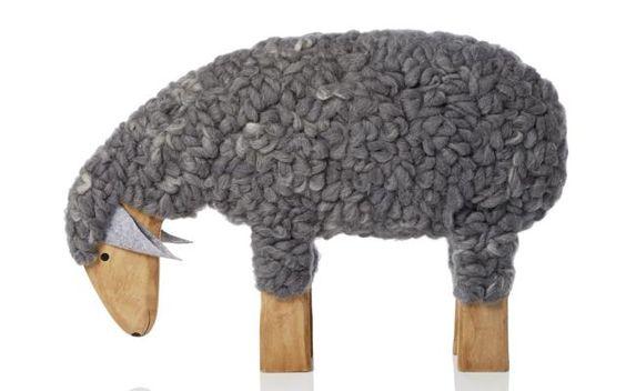 Deko Schaf Aus Holz Und Wolle ~ Oster Ideen 2015 Kuscheliges Schaf aus Holz und Wolle im XXL Format