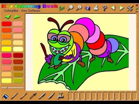 Kea Coloring Book Caterpillar Coloring Books Books Color