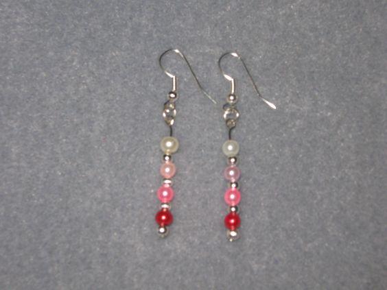 Handmade bead earrings.
