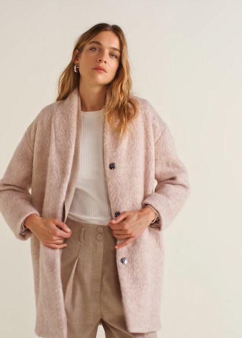 Informele oversized jas Dames | MANGO Nederland | Trendy