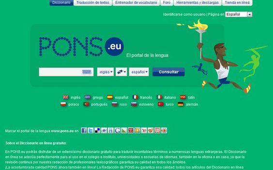PONS, un excelente diccionario en línea para múltiples idiomas