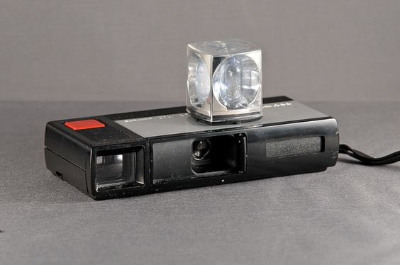70's Kodak Pocket Instamatic with the rotating flash cube