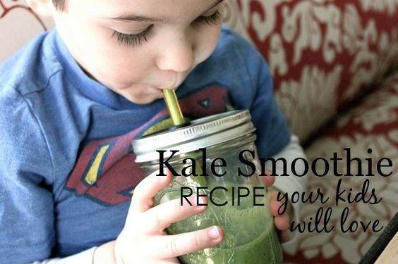 Kids Green Smoothie - your kids will LOVE this!: Baby Smoothies, Kale Smoothie Recipes, Kids Drinks, For Kids, Green Smoothie, Kids Kale, Kidfood Bestsmoothie