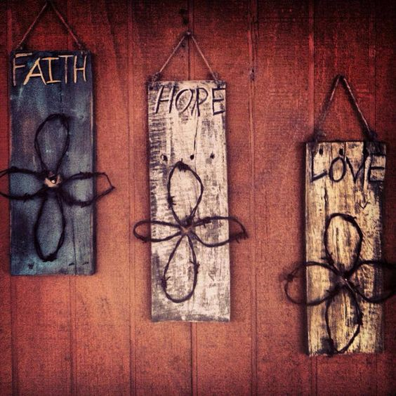 Rustic wood signs rustic wood and wood signs on pinterest for Faith decor