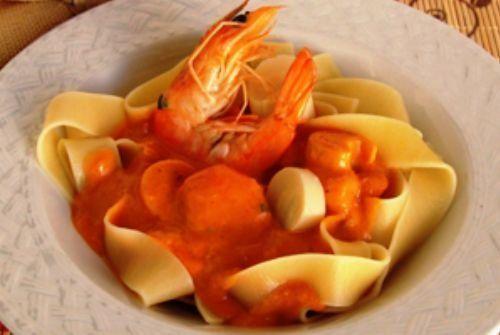 Pappardelle ao veloutè de palmito e camarão| Gastronomia e Receitas - Yahoo Mulher