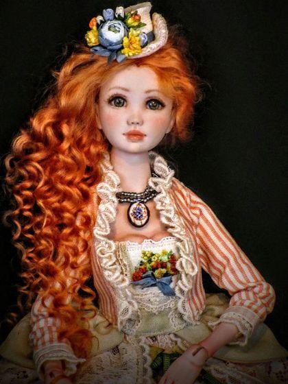 """Collectible doll / Коллекционные куклы ручной работы. Ярмарка Мастеров - ручная работа. Купить Адэль """"Старинные открытки"""". Handmade. Кукла ручной работы"""
