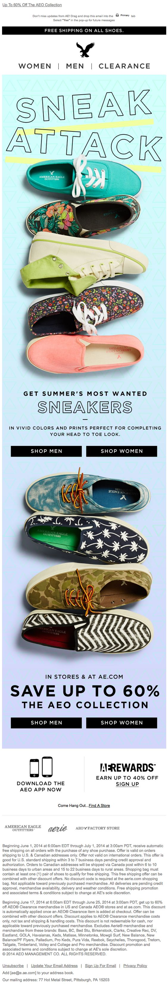 American Eagle Outfitters | newsletter | fashion email | fashion design | email | email marketing | email inspiration | e-mail