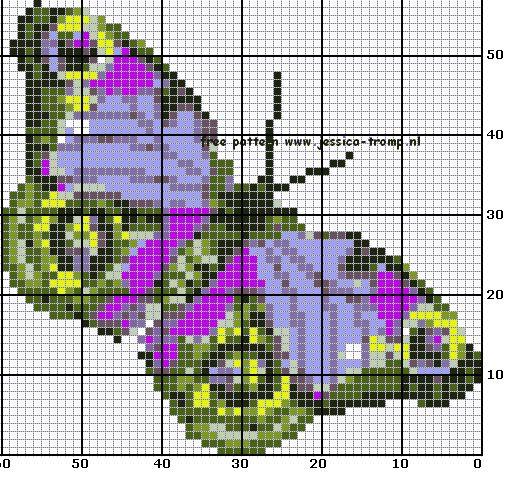 Butterfly perler bead pattern: