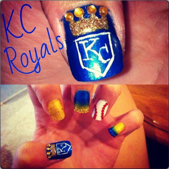 IG @nailsby_tonya nail designs. Kc royals nails. Kansas City. royal ...