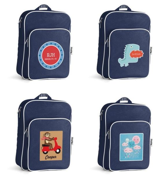Custom personalized backpacks for kids in three sizes at Tiny Me
