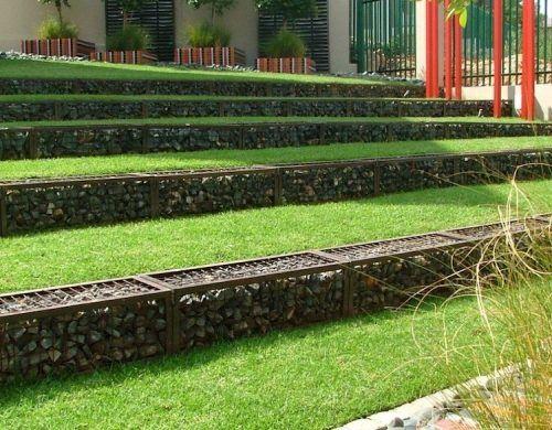 Amenagement Jardin En Pente Douce Terrasses Bien Rangees Railroad Tracks Structures