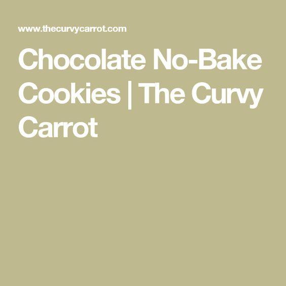 Chocolate No-Bake Cookies | The Curvy Carrot