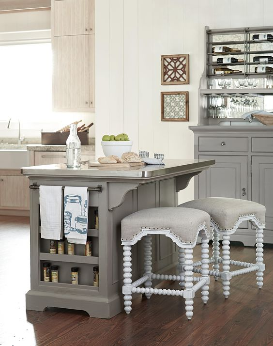 Add Your Kitchen With Kitchen Island With Stools: Its Always, Cabinets And Love The On Pinterest