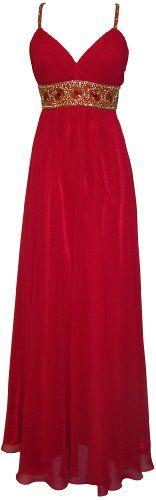 Greek Goddess Chiffon Starburst Beaded Full Length Gown Prom Dress Junior Plus Size $149.99
