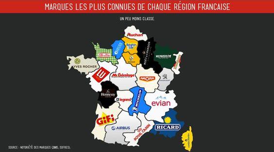 Les marques célèbres de chaque région