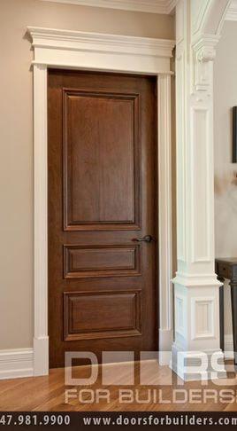 Love The Dark Stained Wood Doors With The Colonial Trim