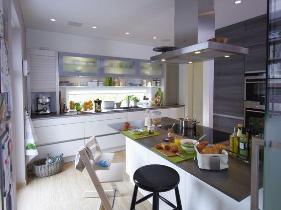 Edition 425 WOHNIDEE-Haus - Familienhaus zum Wohlfühlen - küche mit side by side kühlschrank