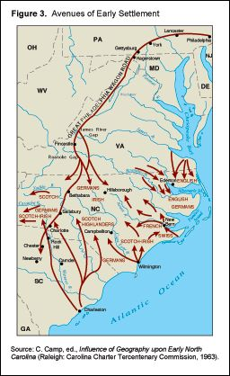 the influence of geography on colonial development Since colonists were arriving in america by sea, most settlement tended to start from the coasts and since rivers served as the easiest way to access the hinterland.