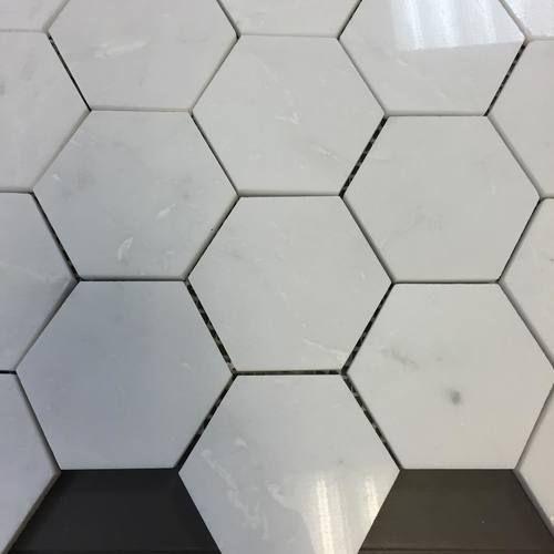 Herringbone 1 X 3 Marble Mosaic Carrara Polished Finish Sale 10 89 Per Square Foot In 2020 Hexagonal Mosaic Carrara Marble Hexagon
