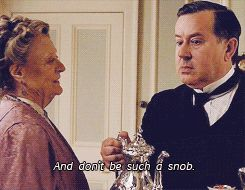 Downton Abbey 5.01 // Isn't that the pot calling the kettle black, Violet?